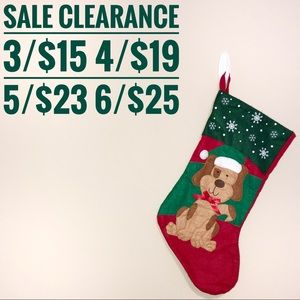 Christmas Dog Stocking SALE CLEARANCE 3 for 15